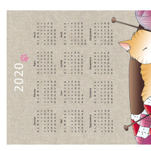 torchon-calendrier-chat