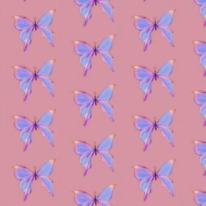 butterflies (glowy pink)