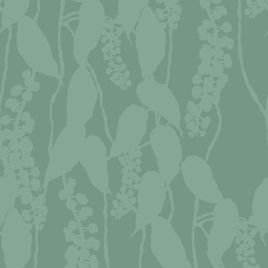 FINALE Italian Berry tonal green leafy leaves leaf foliage hand drawn repeating pattern