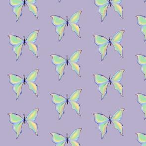 butterflies (pastel green)