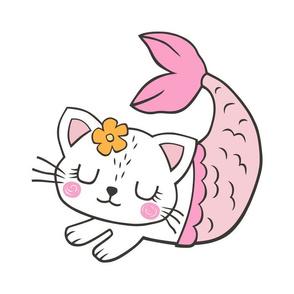 Purrmaids Cats Mermaids Pillow Plush Plushie Softie Cut & Sew