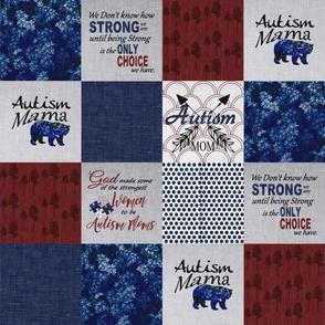 Autism MOM Dark Blue