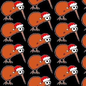 Christmas Kiwi - on black