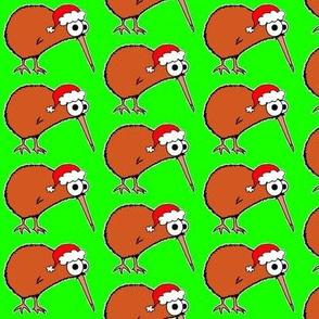 Christmas Kiwi - on green