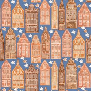 Gingerbread Houses delft blue mix