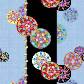 Kandy Kaleidoscopes Stripes Blue