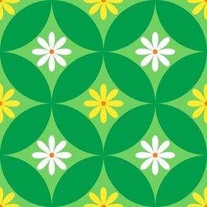 Green Flower Circle Lock Pattern