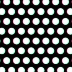 Blurry White 3D Dots on Black