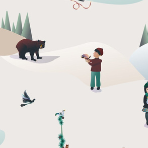 Whimsical wonderland forest animals