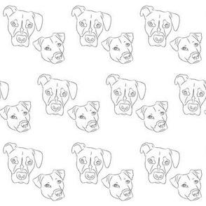 Dog print- black & white