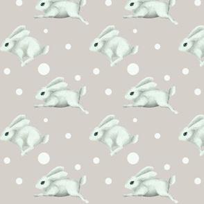 Cute rabbit and polka dots