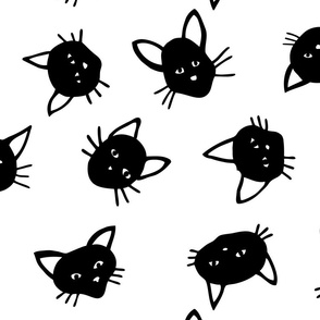 Scattered Black Cats - Large scale