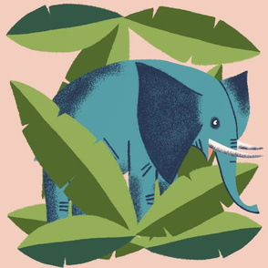 Hiding Elephant