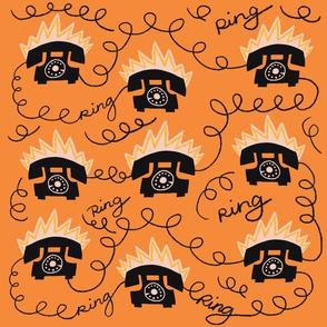 Ring Ring in Orange