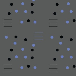 three lines and a dot blue