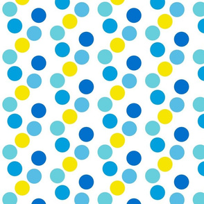 Dancing Dots in Blue Sun