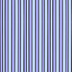 Black Periwinkle Purple Stripe