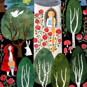 Fairytale woodland large scale