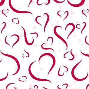 Red Hearts, Pink Dots - Large