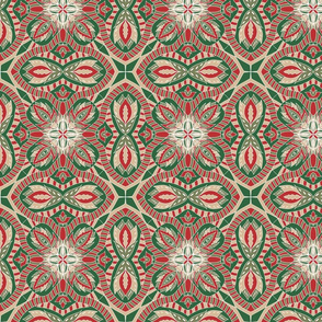 Chintz Christmas intricate tile