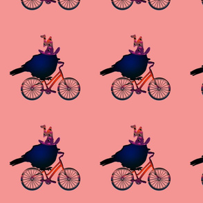 Birds on Bikes with Witches Hat
