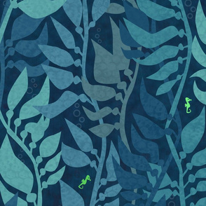 Mermaid Wonderland Kelp Forest Blue