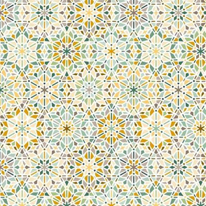 kaleidoscope in green and yellow - small