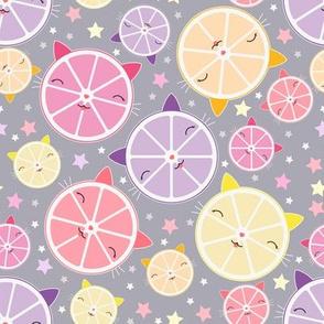 Kawaii cat citrus