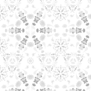flower snowflake grayscale