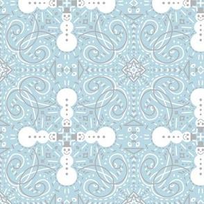 Snowmen - symmetrical winter pattern