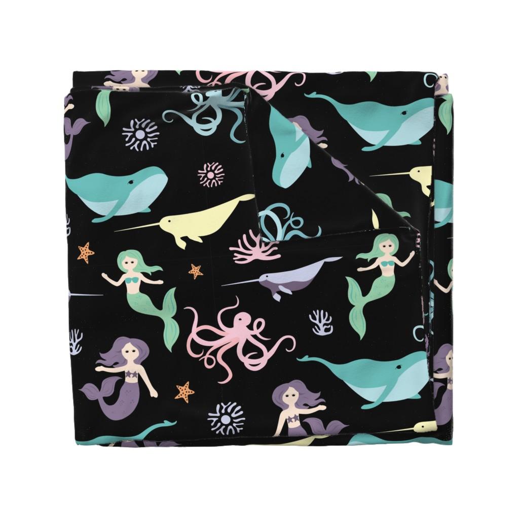Wyandotte Duvet Cover featuring Mermaid Friends Large Scale by denisecolgan