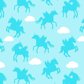 Pegacorn Silhouettes Blue