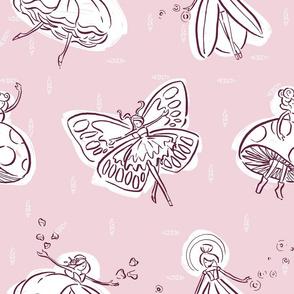 Whimsical Wonderland Fairies - Plum Pink