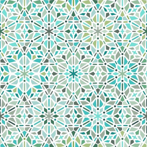 kaleidoscope in green and mint