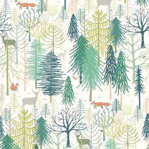 woodland winter wonderland large scale by Pippa Shaw