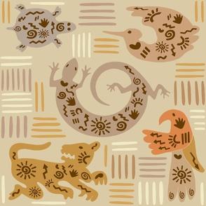 Southwest Gecko Wallpaper - Medium scale