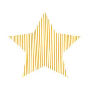 Yellow Star Pillow Plush Plushie Softie Cut & Sew