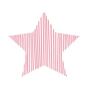 Pink Star Pillow Plush Plushie Softie Cut & Sew