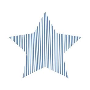 Blue Star Pillow Plush Plushie Softie Cut & Sew