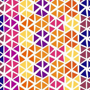 Modern vibes - triangles yellow and purple