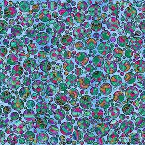 polka dots -fancy blue lite