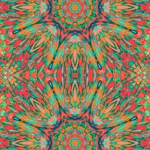 Kaleidoscope - wild orange checkerboard