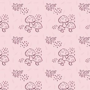 Whimsical Wonderland Mushrooms - Plum
