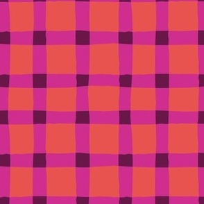 Bright Plaid - Large Scale