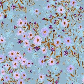 """Tatarian Asters Meadow (dusty blue) 12"""""""
