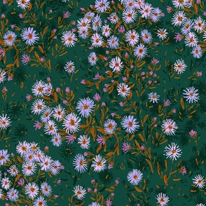 """Tatarian Asters Meadow (forest green) 21"""""""