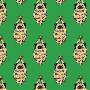 Pug Merry Christmas_8x8