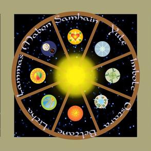 Wheel of the Year in Symbols Runner