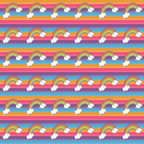Rainbow Brite with Rainbows and Clouds smaller