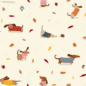 Dachshund Sweater Weather (Large Scale)